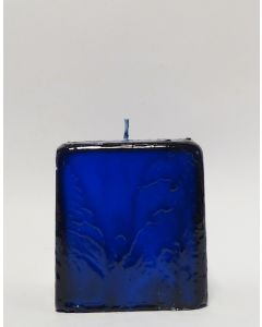 Batik Kerzen Blau